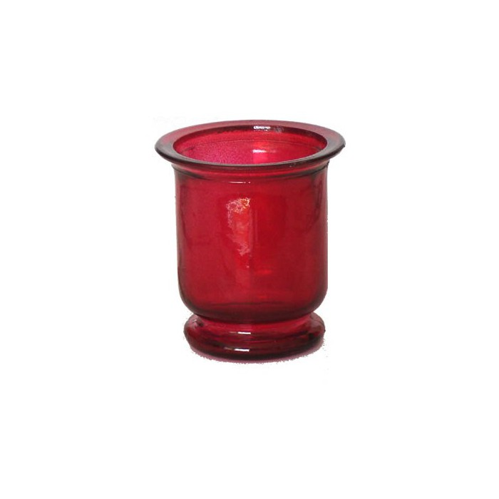 Candle jar, 7cm, red