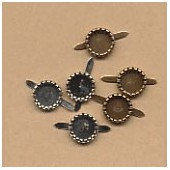 Brads for strass 8mm, 6 pcs