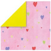 Paper pink with hearts
