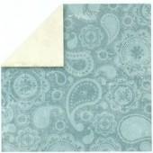 Papier bleu, paisley