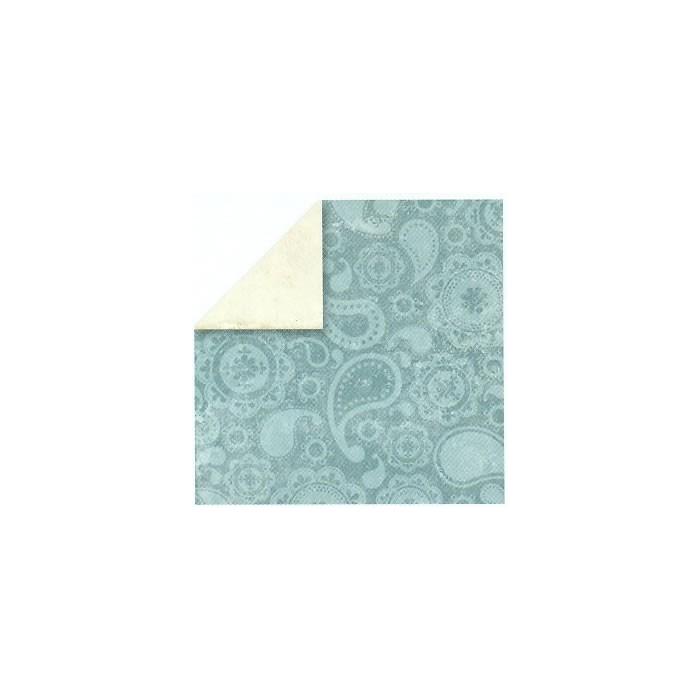 Paper blue paisley