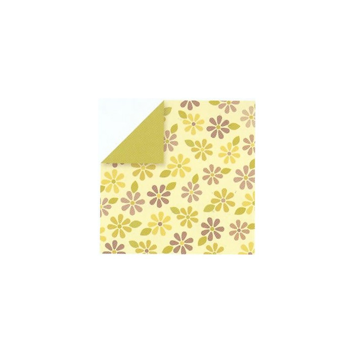 Paper yellow with flowers