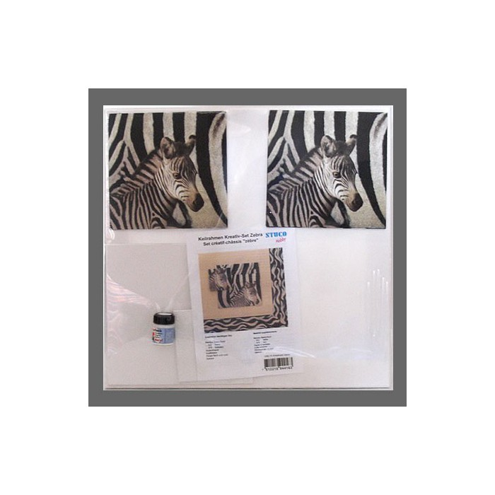 "Stretched canvas ""zebra"""