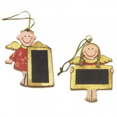 Angels with board, 7.5cm, 2 pcs