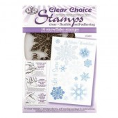 Clear stamps, snowflakes