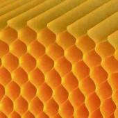 Papier alvéolé jaune foncé, 30 couches, A4