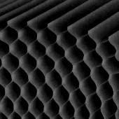 Papier alvéolé noir, 26 couches, A4