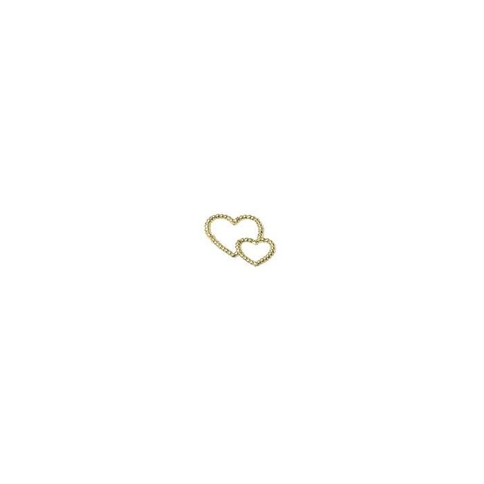 Decorative Hearts, gold, 2.5cm, 50 pcs