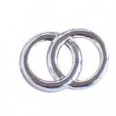 Decorative Wedding rings, silver, 2cm, 100 pcs