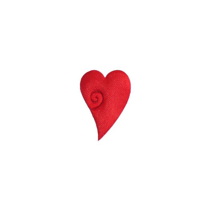 Fabric Red Hearts, 4cm, 40 pcs