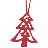 Felt fir-tree red 8cm