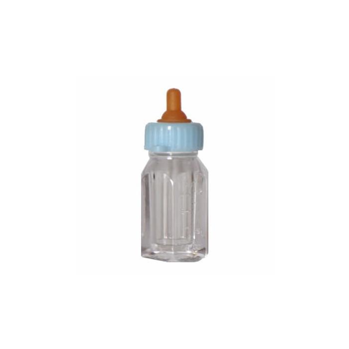 Baby's bottles, blue, 4,5cm, 24 pcs