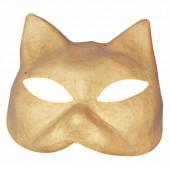 """Masque en papier mâché """"chat"""", 17x16cm"""