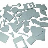 Formes plates en papier mâché, 38 pces
