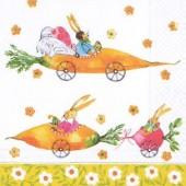 Serviette Bunny Race, 1 pièce