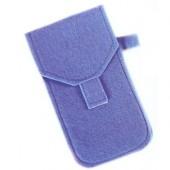 Pochette à lunettes en feutre, bleu, 9x16.5cm