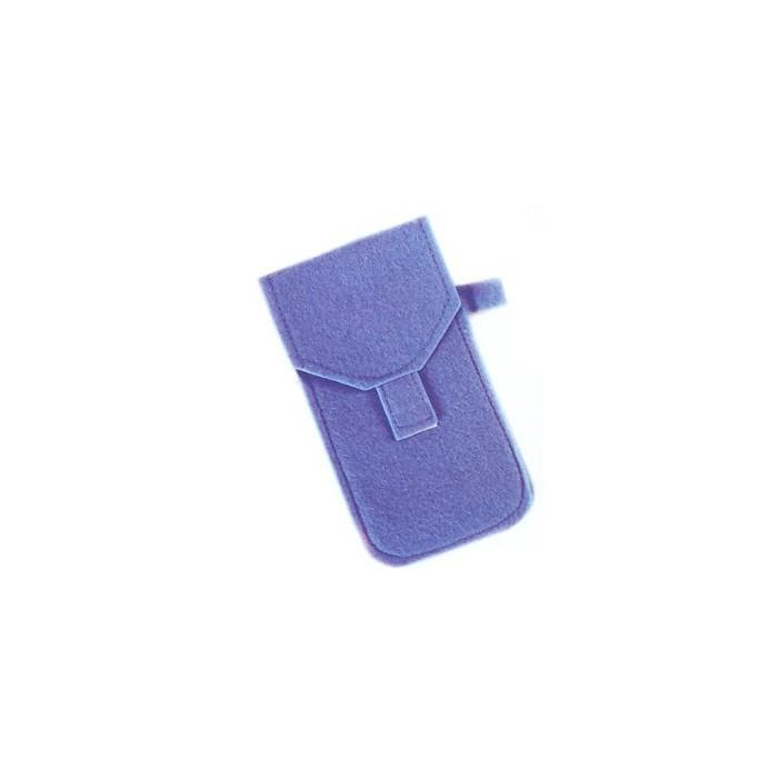 Case for glasses, blue felt, 9x16.5cm