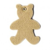 Felt bears, light brown, 8.5x6cm, 8 pcs