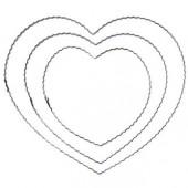 Coeur en métal ondulé, 25cm