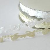 Dove Ribbon, white, 12mm/25m