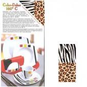 Color-Dekor 180°, Afrika zèbre/léopard