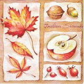 Small Napkin apple/walnut, 1 pce