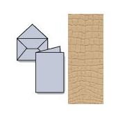 Set 7 cards and envelopes, walnut