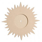 Pendule MDF soleil, 30x31cm