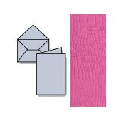 Set 7 cards and envelopes, pink