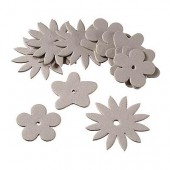 Cardboard shapes flowers, 15 pcs