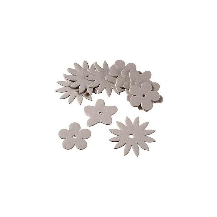 Cardboard shapes flowers, 15 pcs