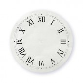 Adhesive Clock Dial, 14cm, silver