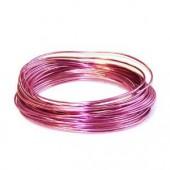 Fil aluminium Ø 2mm/2m, pink