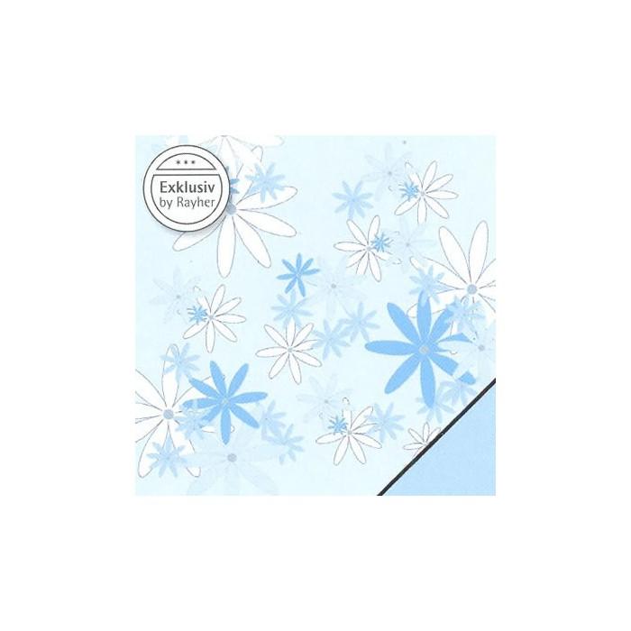 Paper blue flowers