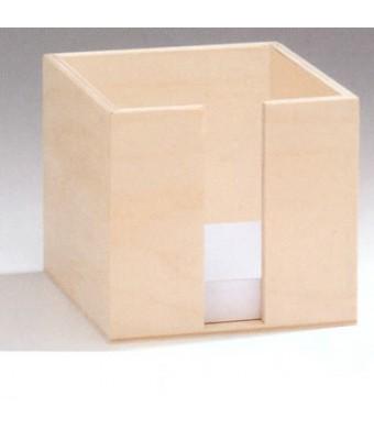 porte bloc notes en bois. Black Bedroom Furniture Sets. Home Design Ideas