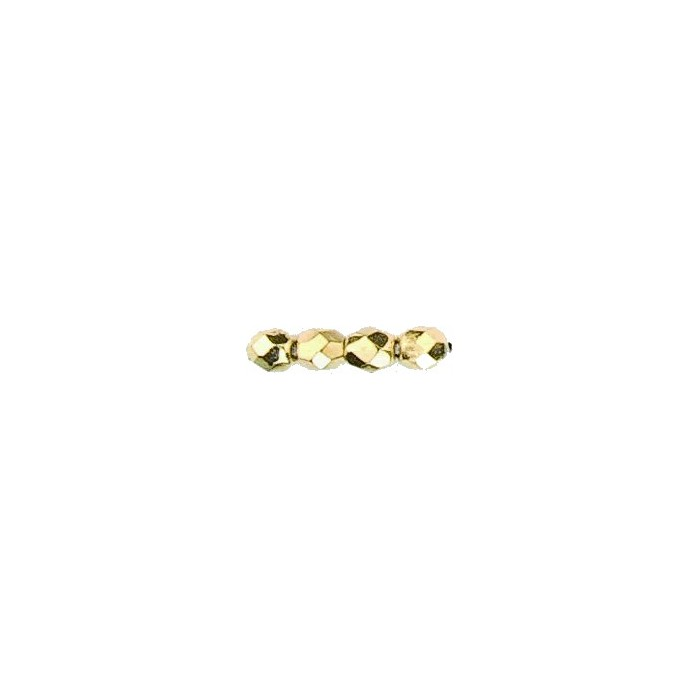 Graphic beads 6mm, gold, 10 pces