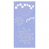 Stencil Fantasy Flowers 15x30cm