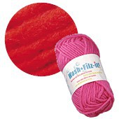 Machine felting wool, red