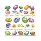 Serviette mini motifs Pâques, 1 pièce