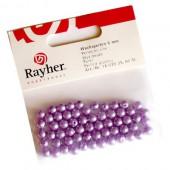 Perles cirées, lilas, 6mm, 60 pces