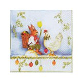 Napkin rabbit and hen, 1 piece