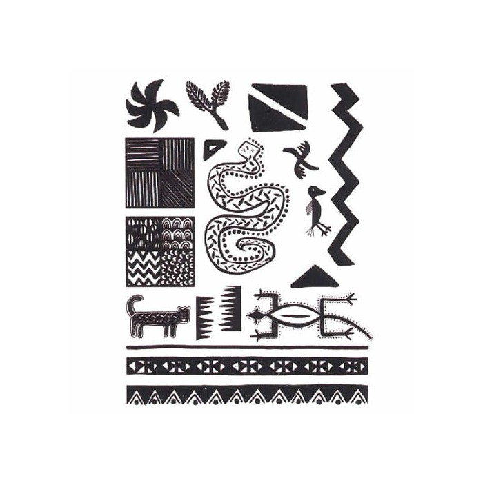 Clear stamps, Africa