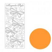 Autocollant peel-off libellule orange