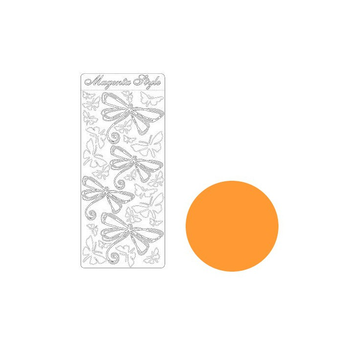 Peel-off stickers dragonfly orange
