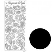 Stickers, Paisley, black