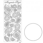 Stickers, Paisley, white