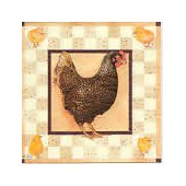 Napkin brown hen, 1 piece