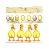 Napkin yellow ducks, 1 piece