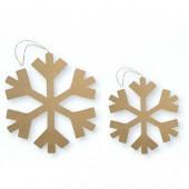 Cardboard snowflake, 16.5cm