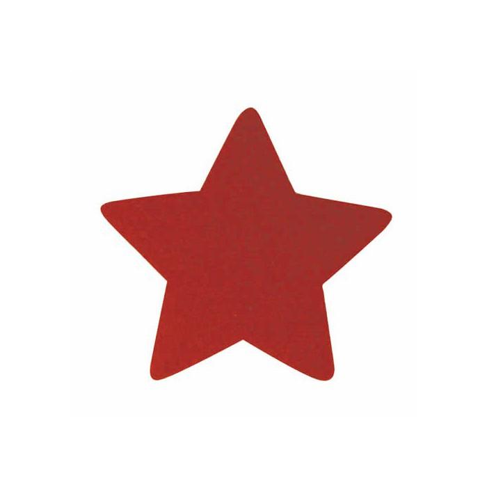Felt stars red 5cm, 12 pcs